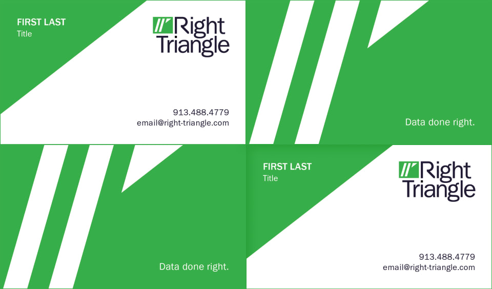 Right Triangle Business Card Design