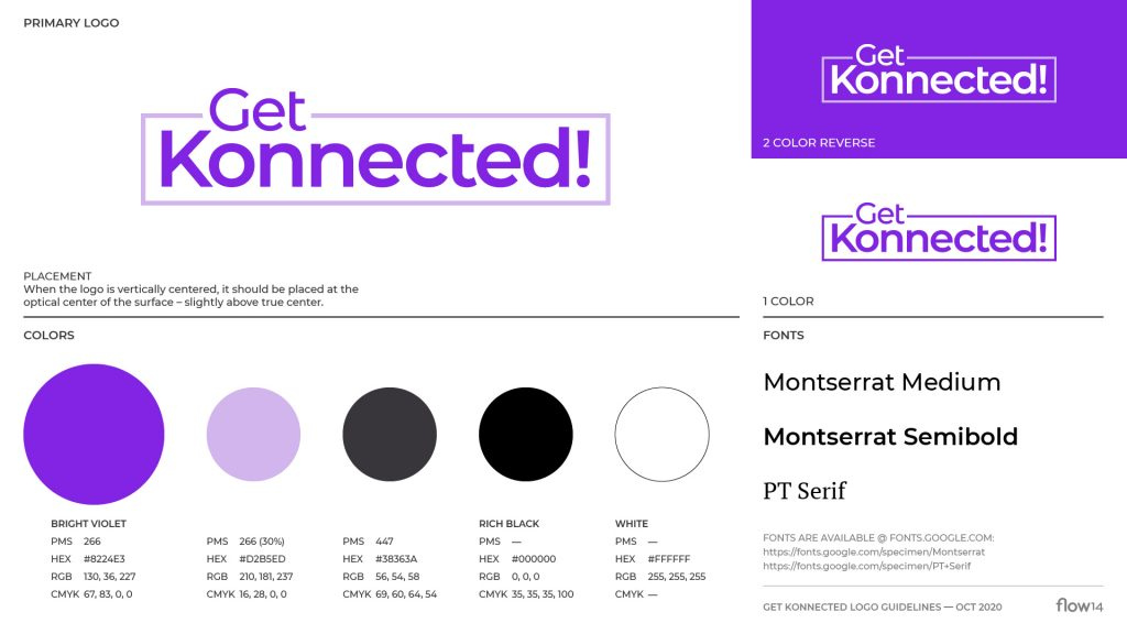Get Konnected logo guidelines
